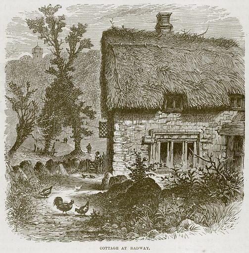 Cottage at Radway. Illustration from Our Own Country (Cassell, c 1870).
