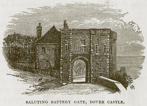 Saluting Battery Gate, Dover Castle. Illustration from Our Own Country (Cassell, c 1870).