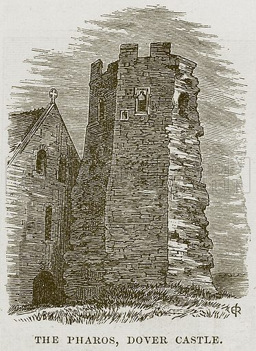 The Pharos, Dover Castle. Illustration from Our Own Country (Cassell, c 1870).