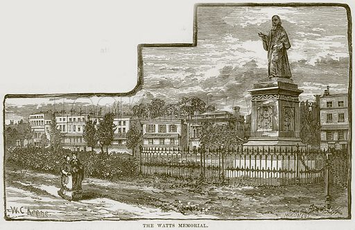 The Watts Memorial. Illustration from Our Own Country (Cassell, c 1870).