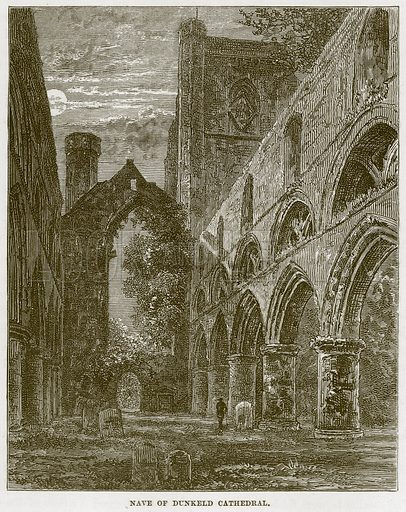 Nave of Dunkeld Cathedral. Illustration from Our Own Country (Cassell, c 1870).