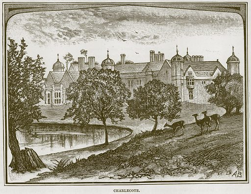 Charlecote. Illustration from Our Own Country (Cassell, c 1870).