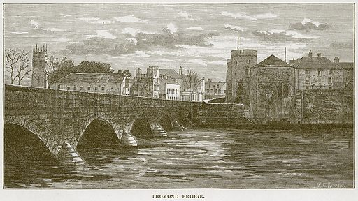 Thomond Bridge. Illustration from Our Own Country (Cassell, c 1870).