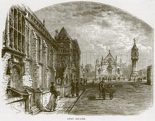 Pery Square. Illustration from Our Own Country (Cassell, c 1870).