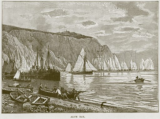 Alum Bay. Illustration from Our Own Country (Cassell, c 1870).