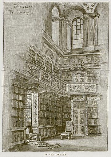 In the Library. Illustration from Our Own Country (Cassell, c 1870).