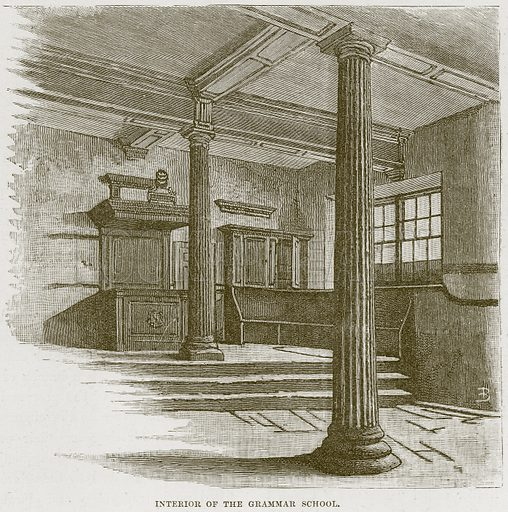 Interior of the Grammar School. Illustration from Our Own Country (Cassell, c 1870).