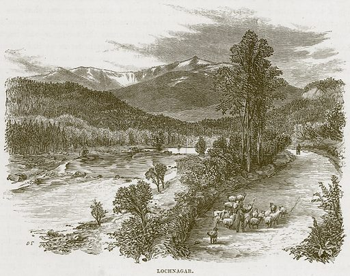 Lochnagar. Illustration from Our Own Country (Cassell, c 1870).