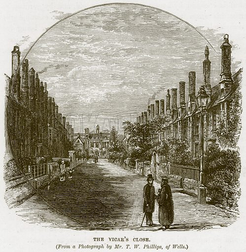 The Vigar's Close. Illustration from Our Own Country (Cassell, c 1870).