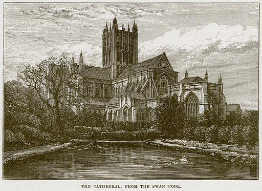 The Cathedral, from the Swan Pool. Illustration from Our Own Country (Cassell, c 1870).