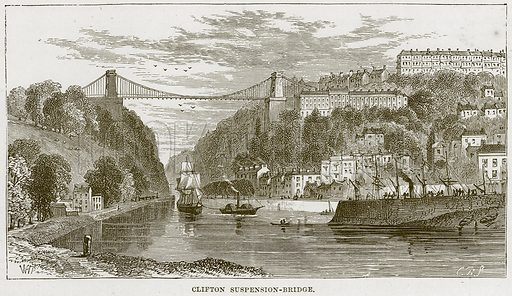 Clifton Suspension-Bridge. Illustration from Our Own Country (Cassell, c 1870).
