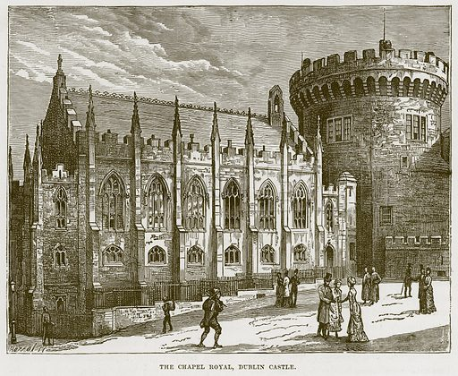 The Chapel Royal, Dublin Castle. Illustration from Our Own Country (Cassell, c 1870).