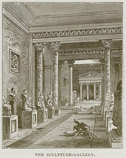 The Sculpture-Gallery. Illustration from Our Own Country (Cassell, c 1870).