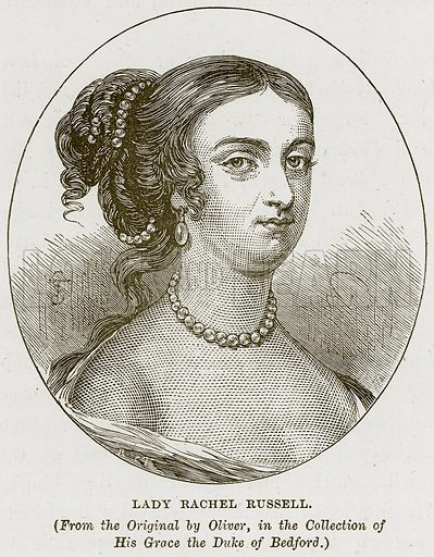 Lady Rachel Russell. Illustration from Our Own Country (Cassell, c 1870).