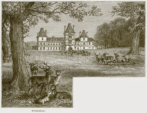 Wynnstay. Illustration from Our Own Country (Cassell, c 1870).