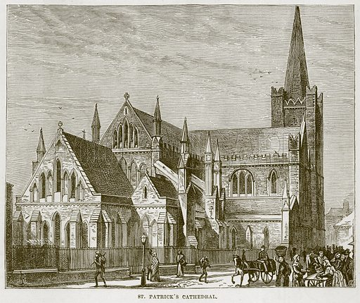 St Patrick's Cathedral. Illustration from Our Own Country (Cassell, c 1870).