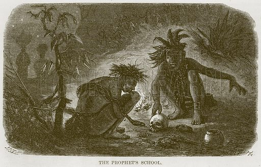 The Prophet's School. Illustration for The Natural History of Man by JG Wood (George Routledge, 1868).