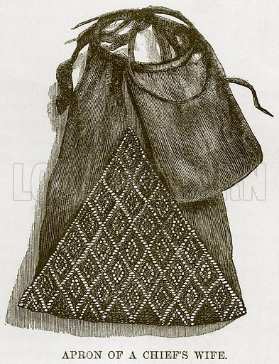 Apron of a Chief's Wife. Illustration for The Natural History of Man by JG Wood (George Routledge, 1868).