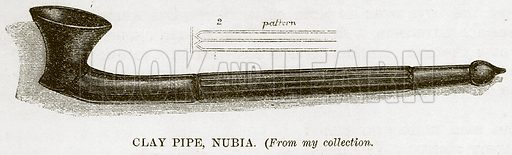 Clay Pipe, Nubia. Illustration for The Natural History of Man by JG Wood (George Routledge, 1868).