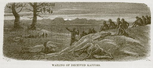 Wailing of Deceived Kaffirs. Illustration for The Natural History of Man by JG Wood (George Routledge, 1868).