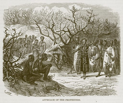 Approach of the Prophetess. Illustration for The Natural History of Man by JG Wood (George Routledge, 1868).