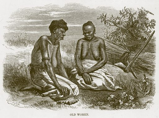 Old Women. Illustration for The Natural History of Man by JG Wood (George Routledge, 1868).