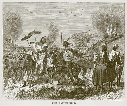 The Battle-Field. Illustration for The Natural History of Man by JG Wood (George Routledge, 1868).