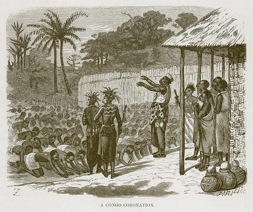 A Congo Coronation. Illustration for The Natural History of Man by JG Wood (George Routledge, 1868).