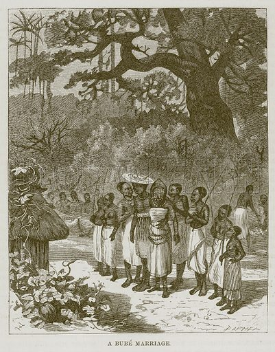 A Bube Marriage. Illustration for The Natural History of Man by JG Wood (George Routledge, 1868).