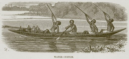 Water Custom. Illustration for The Natural History of Man by JG Wood (George Routledge, 1868).