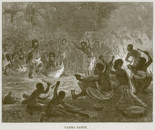 Camma Dance. Illustration for The Natural History of Man by JG Wood (George Routledge, 1868).