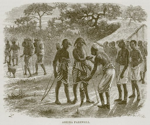 Ashira Farewell. Illustration for The Natural History of Man by JG Wood (George Routledge, 1868).