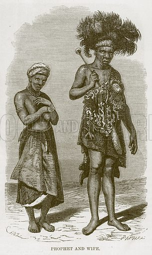 Prophet and Wife. Illustration for The Natural History of Man by JG Wood (George Routledge, 1868).