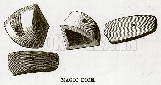 Magic Dice. Illustration for The Natural History of Man by JG Wood (George Routledge, 1868).