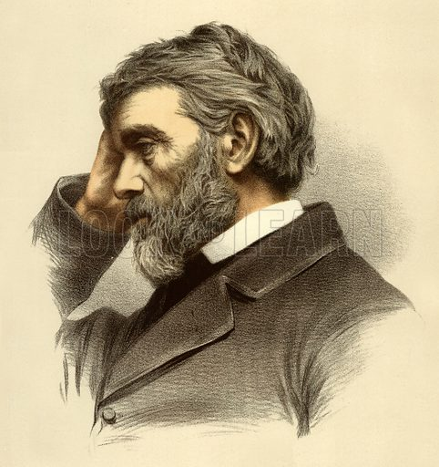 Thomas Carlyle. Illustration from The Modern Portrait Gallery (Cassell, c 1880).