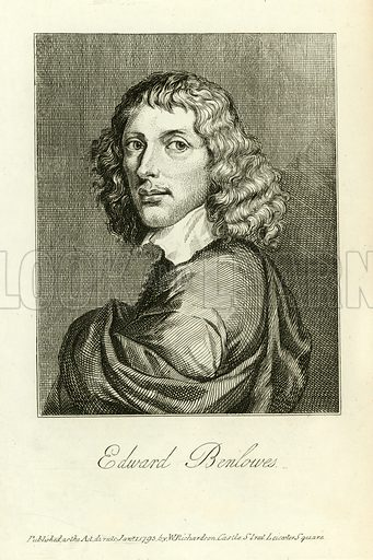 Edward Benlowes. Illustration from A Biographical History of England by J Granger (William Baynes, 1824).