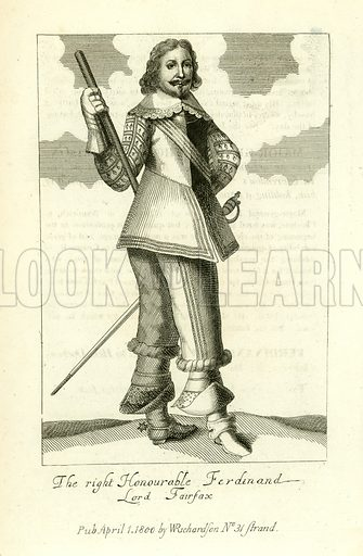 Ferdinand, Lord Fairfax. Illustration from A Biographical History of England by J Granger (William Baynes, 1824).
