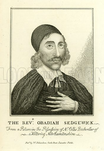 Obadiah Sedgwick. Illustration from A Biographical History of England by J Granger (William Baynes, 1824).