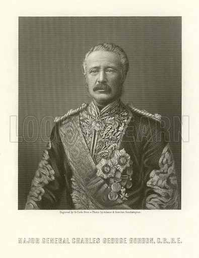 Major General Charles George Gordon. Illustration from The Age WE Live In by James Taylor (William Mackenzie, c 1870).