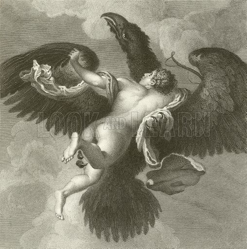 Ganymede. Engraving from The National Gallery (Jones, c 1850).