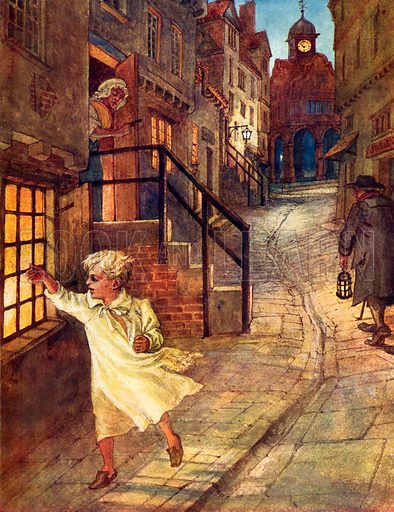 Wee Willie Winkie. Illustration from A Picture Song Book (Smith Elder, 1910).