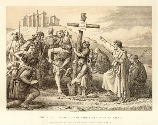 The first preaching of Christianity in Britain