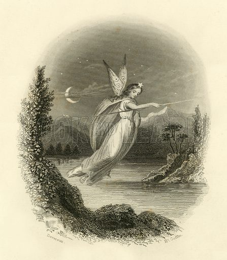 Evening. Illustration from A Gallery of Famous English and American Poets edited by Henry Coppee (Butler, 1867).