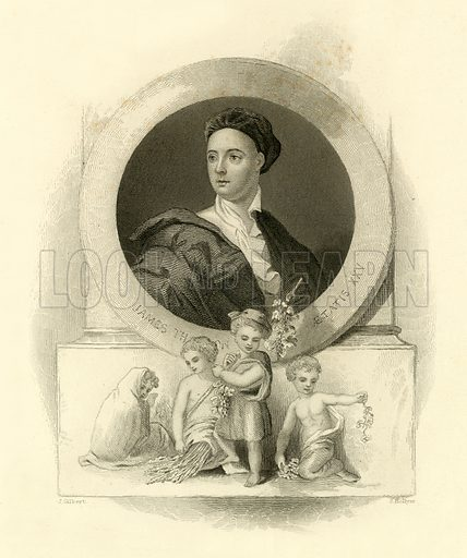 James Thomson. Illustration from A Gallery of Famous English and American Poets edited by Henry Coppee (Butler, 1867).