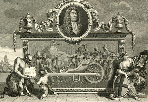 Hudibras. Frontispiece. From The Works of WIlliam Hogarth (Jones, 1833).