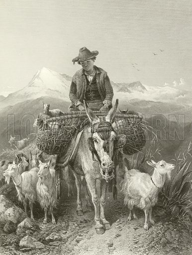 The Goatherd of Granada. Illustration from Modern Art, Second Series edited by James Dafforne (Virtue, c 1880).