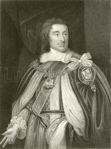 George Monk, Duke of Albemarle. Illustration from Portraits of Illustrious Personages by Edmund Lodge (Harding and Lepard, 1832).