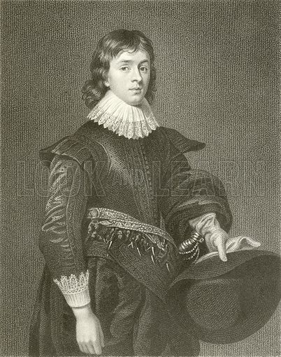 John, First Marquis of Hamilton. Illustration from Portraits of Illustrious Personages by Edmund Lodge (Harding and Lepard, 1832).