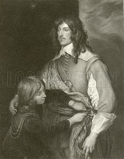George, Lord Goring. Illustration from Portraits of Illustrious Personages by Edmund Lodge (Harding and Lepard, 1832).