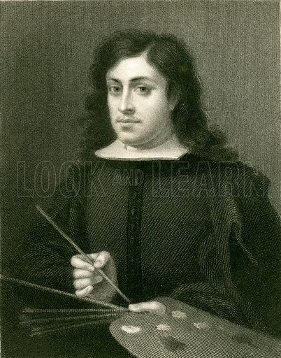 Murillo. Illustration from The Gallery of Portraits (Charles Knight, 1836).